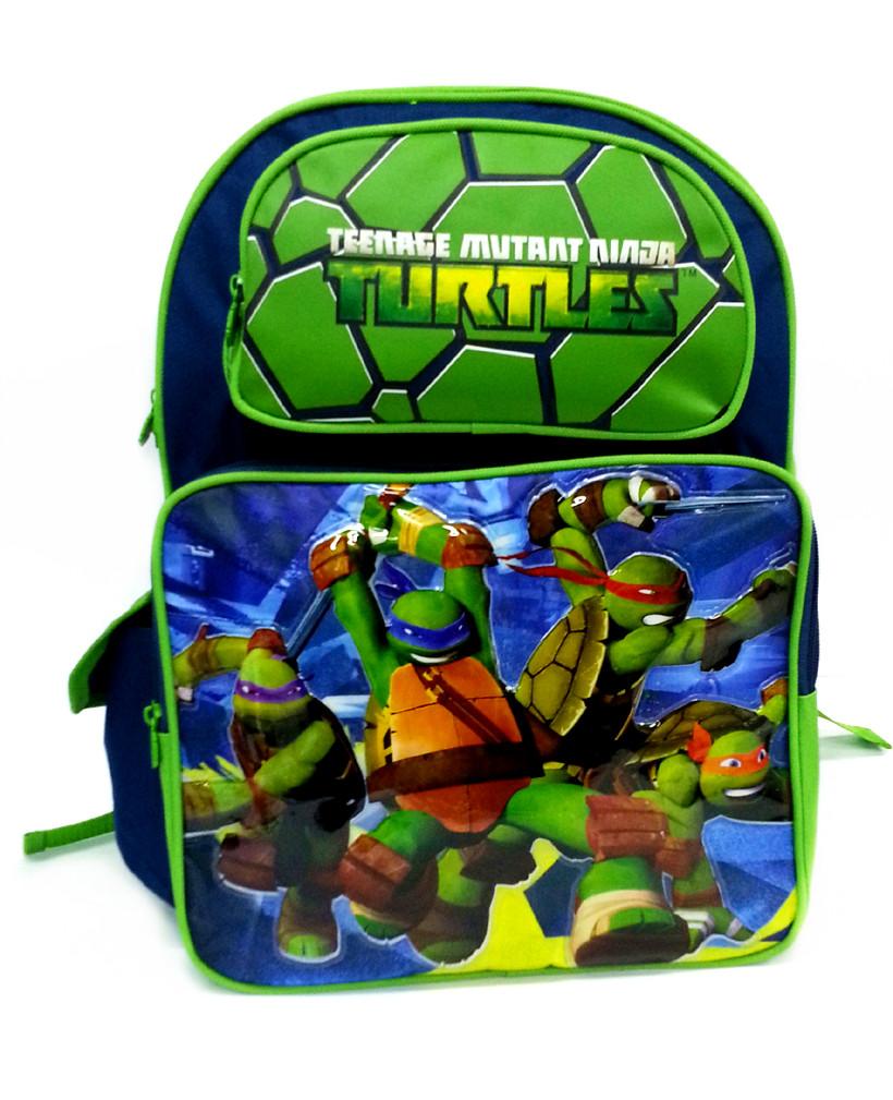 NINJA TURTLES GREEN 16 inches SCHOOL BAG-0