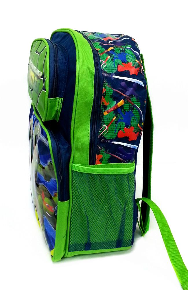 NINJA TURTLES GREEN 16 inches SCHOOL BAG-5538