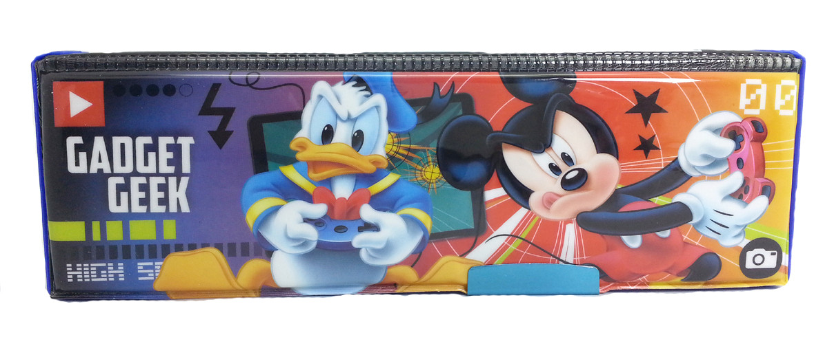 DISNEY MICKEY MOUSE GEEK BEATS MAGNETIC PENCIL CASE-8287