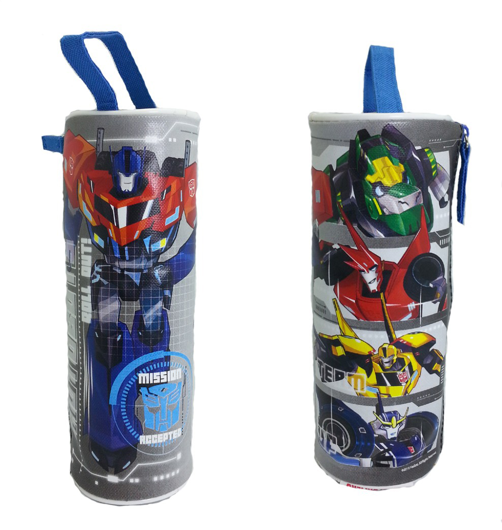 TRANSFORMER AUTOBOT ROLL OUT ROUND PENCIL BAG-0