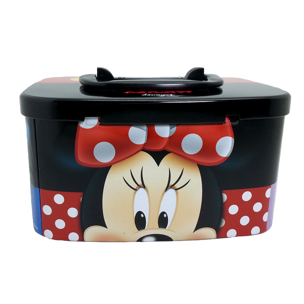DISNEY MICKEY & FRIENDS HEAD COIN BANK WITH LOCK-11150