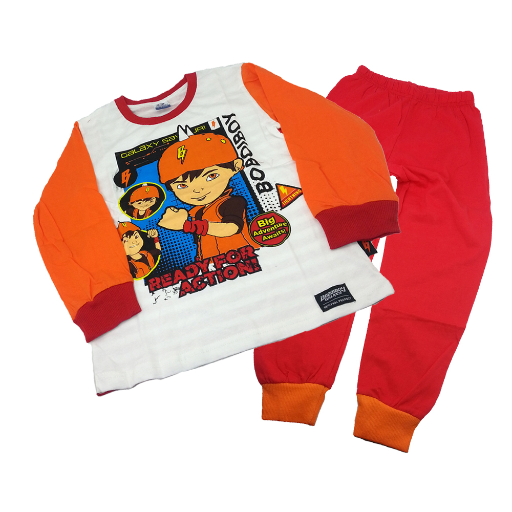 BOBOIBOY GALAXY ACTION LONG SLEEVE PYJAMAS (S Size)-0