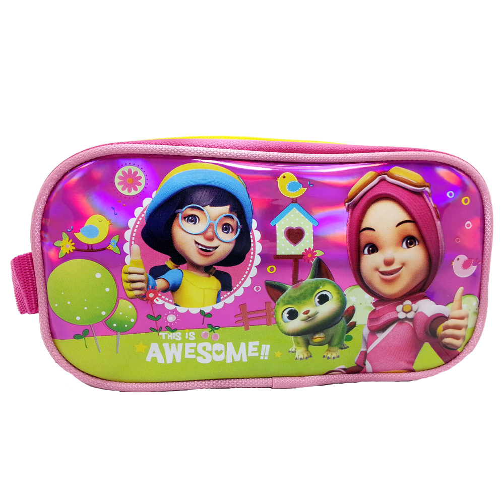 BOBOIBOY YAYA & YING AWESOME SQUARE PENCIL BAG-0